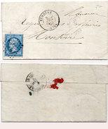 Lettre (LAC)  Adressée De VENDOME A MONTOIRE En 1866 - GC 4130 Sur Yvert 22 (95476)