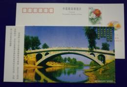 1400 Years Ago Single-hole Stone Arch Bridge,zhaozhou Bridge,CN 01 Hebei Help Disabled Advertising Pre-stamped Card - Bridges