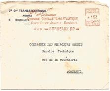 EMA DE BORDEAUX DU 26/12/1953 SUR LETTRE A EN TETE