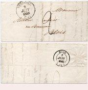 Lettre (LAC) Adressée De VENDOME A BLOIS En 1843  (95478)