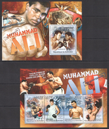 A187 2012 BURUNDI SPORT BOXING MUHAMMAD ALI KB+BL MNH