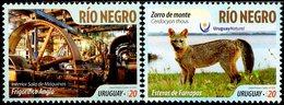Uruguay - 2016 - Tourist Destinations - Rio Negro - Mint Stamp Set