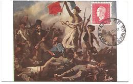 OBLITERATION SUR CARTE DE PARIS 65