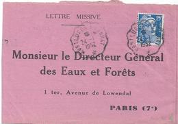 1968–– Cachet à Date, Convoyeurs Lignes « MONTLUÇON A GANNAT ».