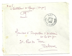 GARONNE / Haute - Dépt N° 31 = NOE 1959 = CACHET MANUEL A7  + FRANCHISE