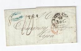 TUSCANY 1846 Taxed Cover From LIVORNO 16.NOV C2 To LYON + T.S.1