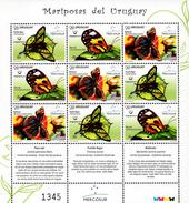 Uruguay - 2016 - Mercosur - Butterflies Of Uruguay - Mint Miniature Stamp Sheet