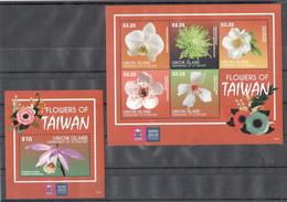 A190 2015 UNION ISLAND FLORA PLANTS FLOWERS OF TAIWAN 1KB+1BL MNH