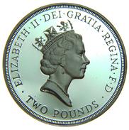 [NC] GRAN BRETAGNA - 2 POUNDS PROOF 50TH ANNIVERSARY UNITED NATIONS - 1971-… : Monete Decimali