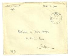 GARONNE / Haute - Dépt N° 31 = ONDES 1955 Ca = CACHET MANUEL Pointillé B7 / RECETTE-DISTRIBUTION + FRANCHISE