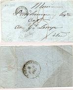 Lettre (LAC) Adressée De BOURG DU PEAGE A LE GRAND LEMPS En 1845  (95479)