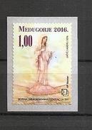BOSNIA AND HERZEGOVINA 2016  ,POST MOSTAR,RELIGION,NEDJUGORJE,ADHESIV,MNH
