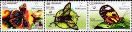 Uruguay - 2016 - Mercosur - Butterflies Of Uruguay - Mint Stamp Set