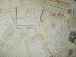 Beau Lot De 5 Kg De Vieux Papiers Trés Divers, Notaire, Ex Libris, Timbres, Correspondances, Commerce,journaux, Etc - Old Paper
