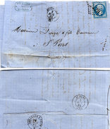 Lettre (LAC) Adressée De MONTAUBAN (GC 2429) A SAINT PONS (Hérault) En 1865  (95480)