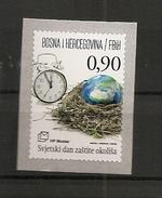 BOSNIA AND HERZEGOVINA 2016  ,POST, MOSTAR,NATUR PROTECT,EARTH,CLOSK,ADHESIV,,,MNH