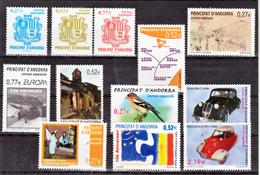 Andorre Espagnol 297 à 308  Année 2004 Poste Complète  Neuf ** MNH Sin Charmela Faciale 8.8