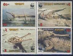 MDW-BK1-066 MDS MINT PF/MNH ¤ BANGLADESH 1990 4w In Serie ¤ WWF - WILD ANIMALS - ENDANGERED ANIMALS