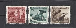 LIECHTENSTEIN 1950 Animals 3 Values - HINGED