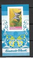 1988 MNH Indonesia Block 65B Butterfly, Postfris**