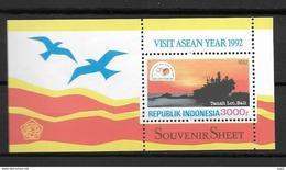 1992 MNH Indonesia Block 82, Postfris**