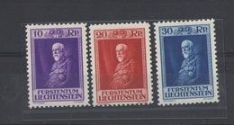 LIECHTENSTEIN 1933 80th Francesco I Birthday 3 Values - HINGED