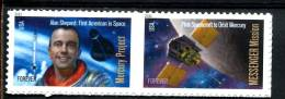 201294047 USA 2011 ** Mnh 4528a Space Firsts 4527 4528 - Unused Stamps