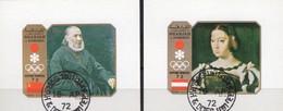 Winterolympiade Sapporo 1972 Sharjah Blocks B+C109 O 2€ Gemälde Maler Kramskoy,Clewe Ms Blocs S/s Art Sheets Bf VAE