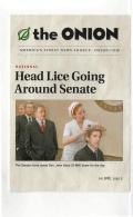 Postcard - The Onion - Head Lice Going Around Senate New - Cartoline