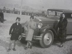 PHOTO ORIGINALE AUTOMOBILE VOITURE DE LUXE ANCIENNE GRANDE FORMAT ANIMEE  23/16,5cm Annee Cc 20-30 - Automobiles