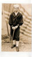 Postcard - Stars & Stripes - Photographic Portrait Of WW1 Sailor C1917 New - Ohne Zuordnung