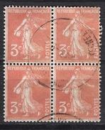 FRANCE 1932 -  BLOC DE 4 TP - Y.T. N° 278A  - OBLITERES - FD547