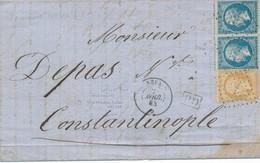 Paquebot Neva 2 Avril 1864 Signé Calves B/TB.