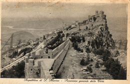 Postcard / San Marino / Panorama / Used / 2 Scans / Antica E Premiata Casa / Edit.  Rag. Cav. Alfredo Reffi / 1937 - Saint-Marin