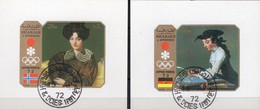 Winterolympiade Sapporo 1972 Sharjah Blocks D+F109 O 2€ Gemälde Maler Ingres Chardin M/s Blocs Ss Art Sheets Bf VAE