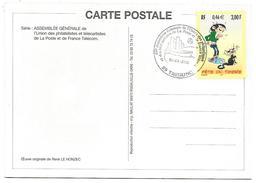 OBLITERATION COMMEMORATIVE ASSEMBLEE GENERALE UPTT à TREGUNC (COTES D'ARMOR) 2001