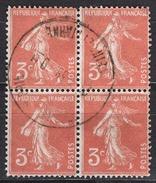 FRANCE 1932 -  BLOC DE 4 TP - Y.T. N° 278A  - OBLITERES - FD549