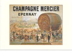 PUBLICITé : ALCOOL TRES BELLE CPM  (  (SUP) CHAMPAGNE MERCIER ( TRES GRAND FORMAT) NEUVE - Advertising