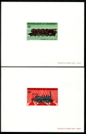 DAHOMEY - N°343/346 4 Epreuves De Luxe - Thème Train - Neuf ** LUXE