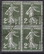 FRANCE 1932 -  BLOC DE 4 TP - Y.T. N° 278  - OBLITERES - FD548