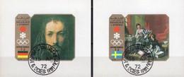 Winterolympiade Sapporo 1972 Sharjah Blocks G+H109 O 2€ Gemälde Maler Dürer Boucher M/s Blocs S/s Art Sheets Bf VAE