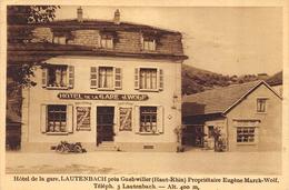 CPSM 68 LAUTENBACH PRES GUEBWILLER   HOTEL DE LA GARE - Frankrijk