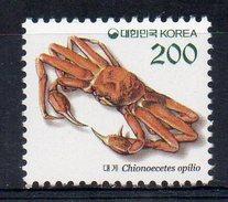 COREE DU SUD - SOUTH KOREA - KING CRAB - CRABE ARAIGNEE - 1993 - - Corée Du Sud