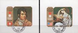 Winterolympia Sapporo 1972 Sharjah Blocks I+J 109 O 2€ Gemälde Von Lawrence,Girodet-Triosen Blocs Art Sheets Bf VAE
