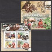 G35 2012 BURUNDI NATURE FOOD CAFE DU BURUNDI KB+BL MNH