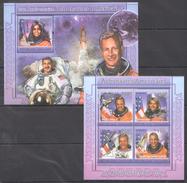 B139 2011 TOGOLAISE SPACE ASTRONAUTES AMERICAINS 1KB+1BL MNH