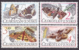 CZECHOSLOVAKIA 1987, Complete Set, MNH. Michel 2902-2905. BUTTERFLIES. Good Condition, See The Scans.