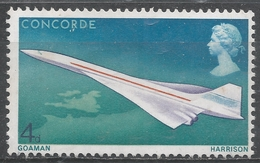 Great Britain 1969. Scott #581 (MNH) Concorde Over Great Britain And France * - Ungebraucht