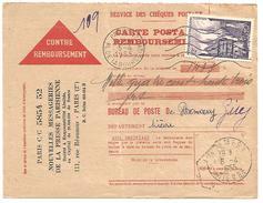 OBLITERATION DE PREMERY (NIEVRE) DU 6/4/1955 - Marcophilie (Lettres)