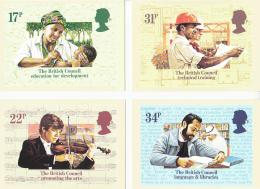 Postcard - Royal Mail - Set Of 4 British Council 1984 - PHQ 79 (a-d) - Unclassified